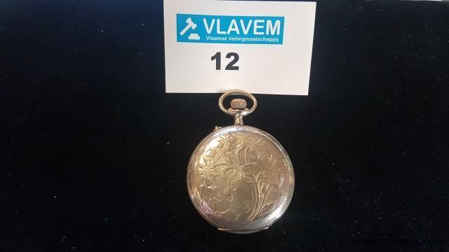 Zakhorloge zilver 800, niet werkend