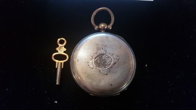 Zakhorloge  Cylindre huit rubis, werkend met sleutel