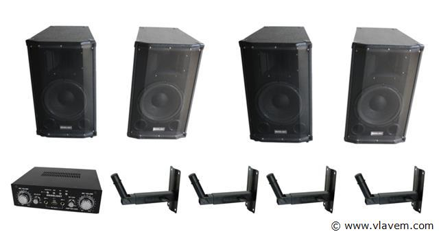 Cafe/zaal set 4x 150W