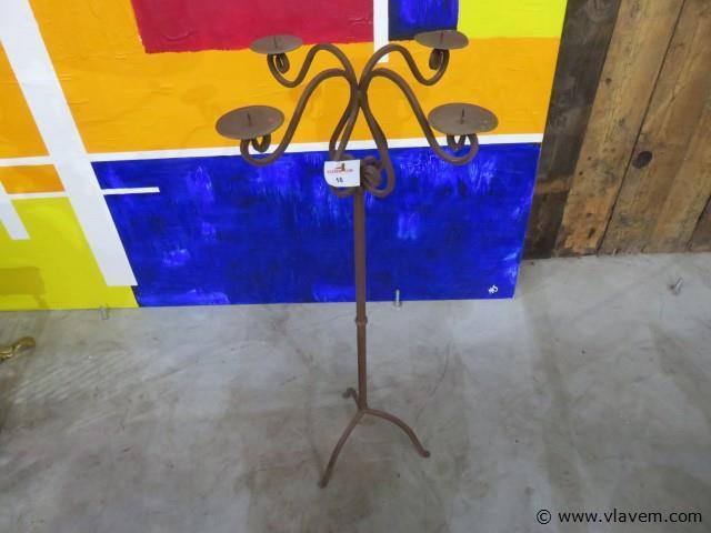 Smeedijzeren kandelaar 110cm
