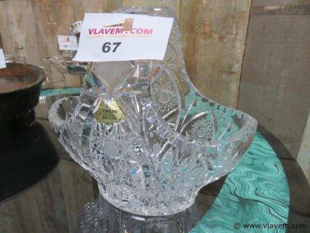Kristallen mandje, 21x19x14cm