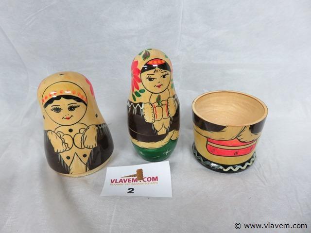 Russische houten pop, 17cm