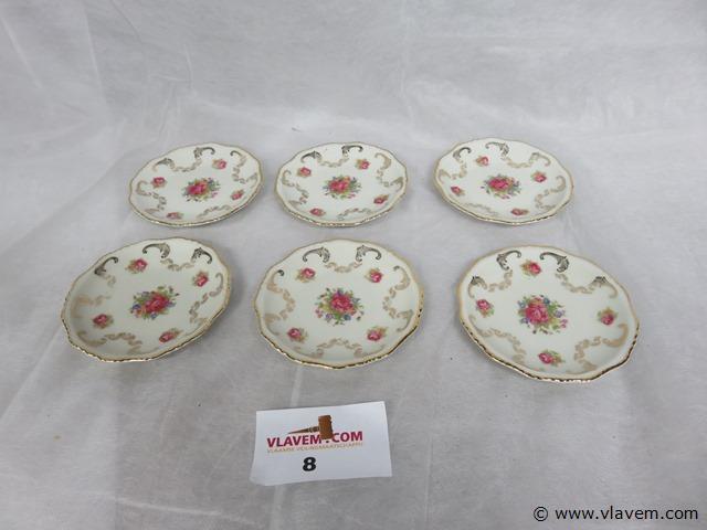 Boch Frères aperitiefschaaltjes, 6 stuks, 10,5cm