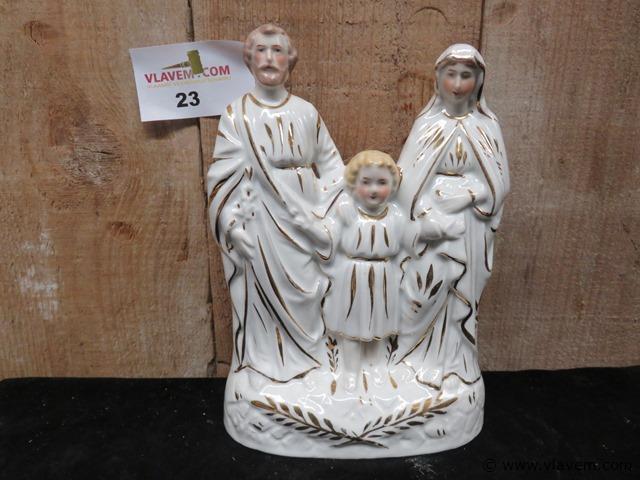 Antieke heilige familie, 23 cm
