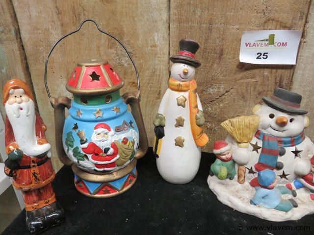 Kerstdecoratie, 8 stuks