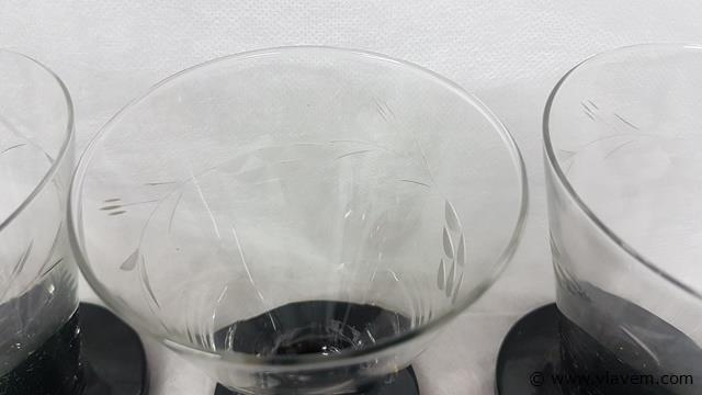 Antieke geslepen glazen, booms glas, 12 stuks