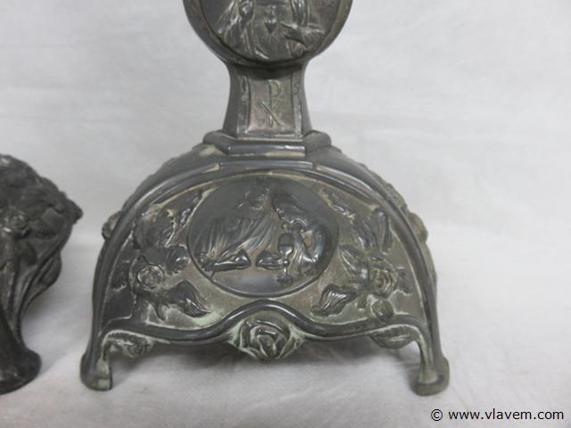 Antieke kerkandelaars, 31,5cm