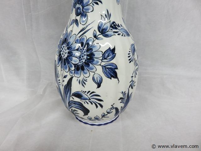 Vaas blauw/wit 36cm