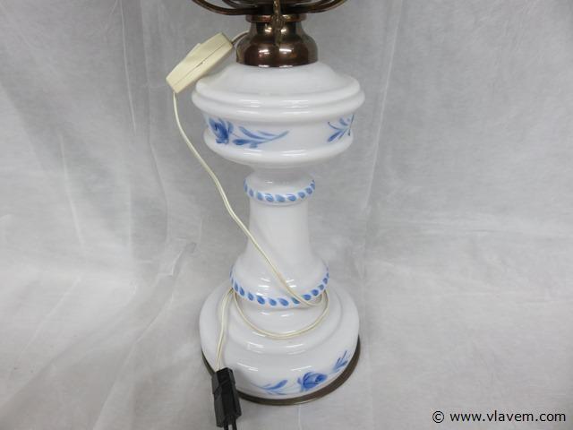 Oude glazen lamp, 56cm