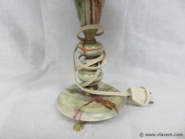Oude lamp onyx, 49cm