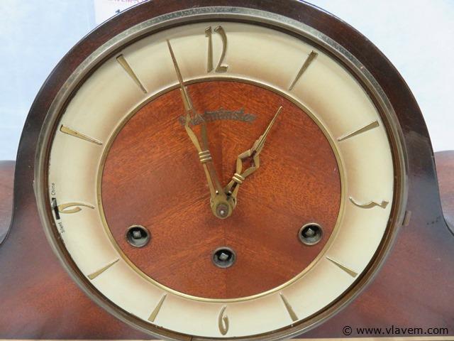 Klok Westminster met sleutel (zonder glas), 69x13x20cm