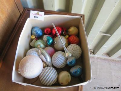 Lot oude kerstballen