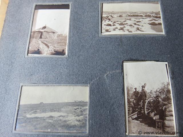 Oud boekje met oorlogsfoto's