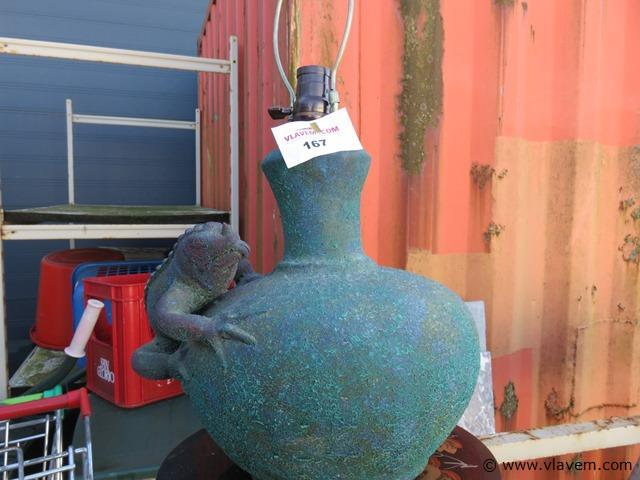 Keramieken lamp met draak