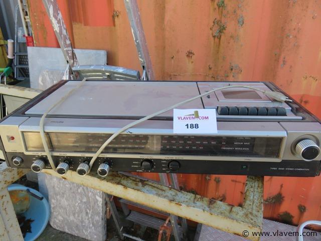 Vintage stereo Philips, niet getest