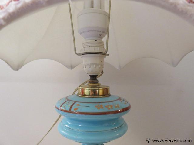 Antieke lamp uit glaspasta, 50cm