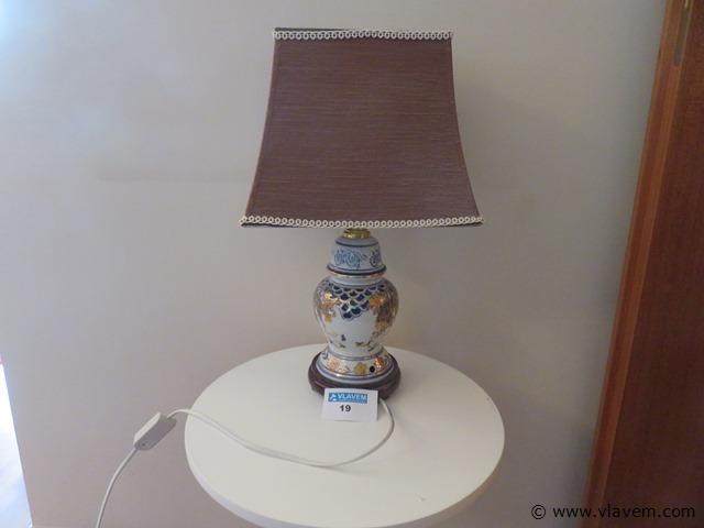 Antieke lamp chinees porselein, 45cm