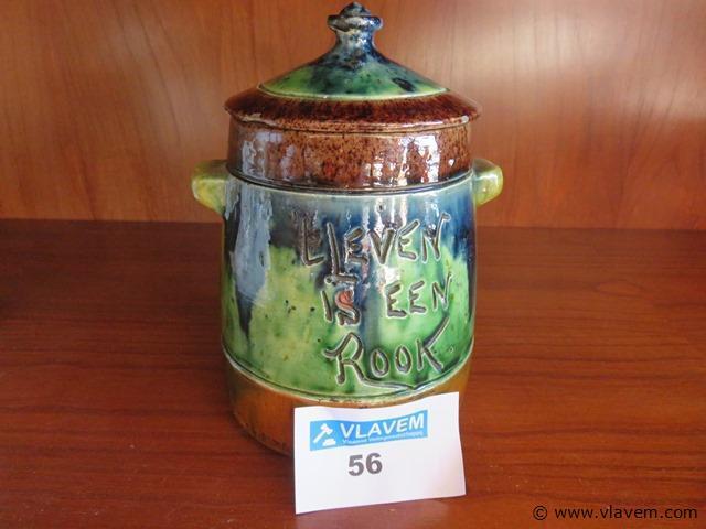 Antieke tabakspot Vlaams aardewerk