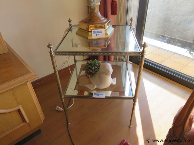Tafel glas 42x42x57cm en zeehond
