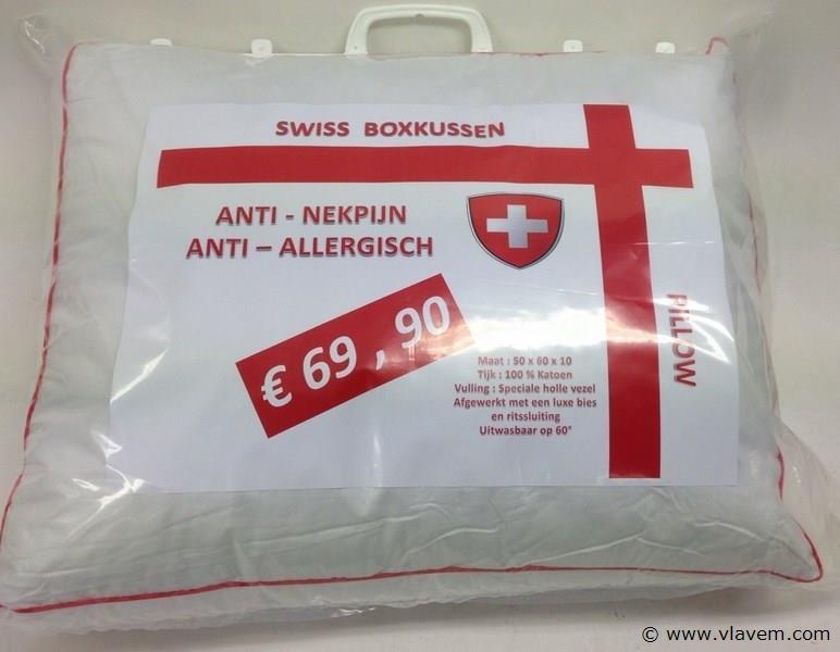 Hoofdkussen Swiss Box  met bies 10003117