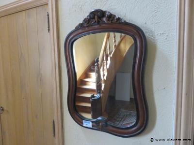 Antieke spiegel, 76x57cm