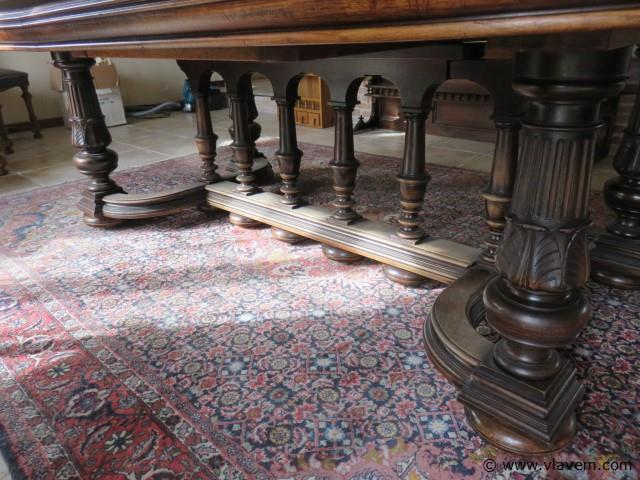 Antieke Franse verlengbare kasteeltafel
