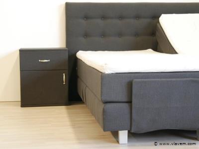 Nachtkastje Boxspring Antraciet.Nachtkast Home Luxo Antraciet 2x Vlavem Com