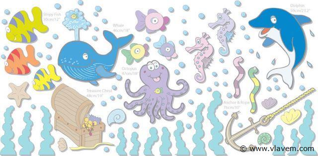 Muurstickers Room Makeover Undersea Adventure