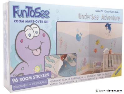 Muurstickers Room Makeover Undersea Adventure