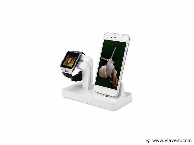 1x   2 in 1 Multifunctionele Telefoon Stand Dock Charger Charging Cradle Holder Voor iPhone X 8 7 6 6 s Plus 6 5 s 5 Voor Apple Horloge Charger .