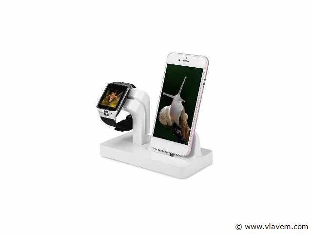 1x   2 in 1 Multifunctionele Telefoon Stand Dock Charger Charging Cradle Holder Voor iPhone X 8 7 6 6 s Plus 6 5 s 5 Voor Apple Horloge Charger .