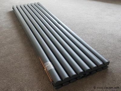 1 st. Verticale designradiator  MAT ANTRACIET - Ovaal tubes - Afm. H1800 x B360 - 1378 Watt - RONDO -