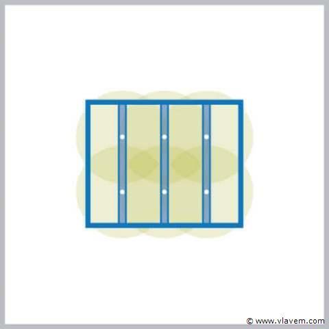 Inbouw Ledverlichting voor aluminium terrasoverkapping set 8 stuks
