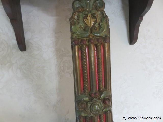 Antieke slingerklok 2 gewichten (living)