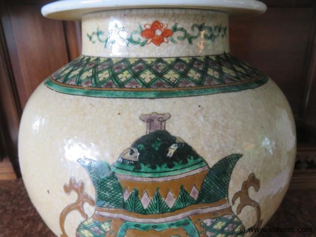 Antieke Aziatische vaas 45,5cm (living)