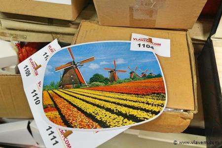 Kadertjes in metaal oud Hollands 12 stuks