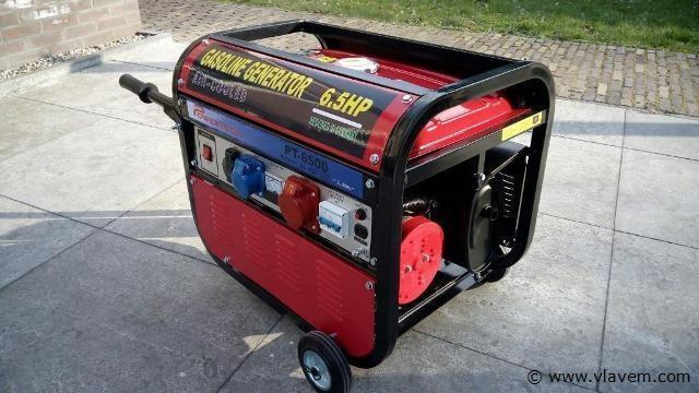 Powertech generator benzine, 220-380v