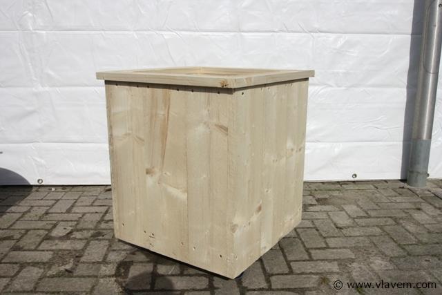 treiger houten bak met wielen