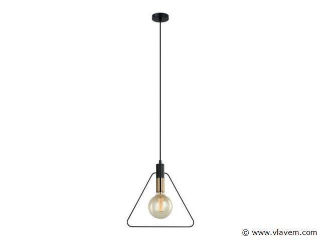 10 x Design hanglampen - TRIAN - Zwart & Brons