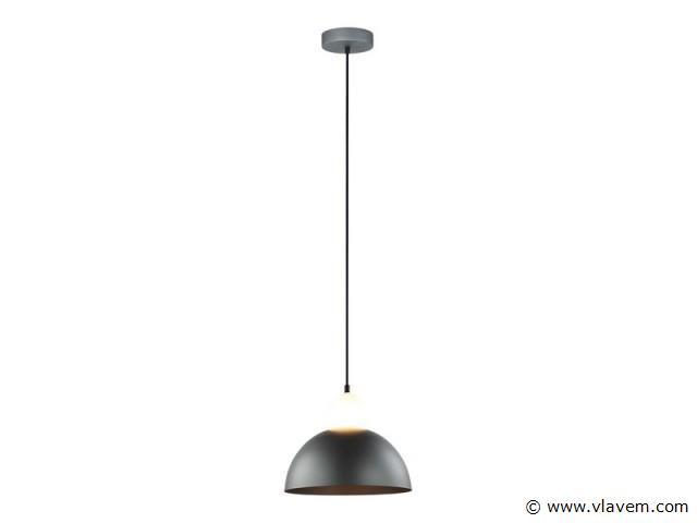 10 x Modern hanglampen - FREBA - Mat donkergrijs met wit (glas)