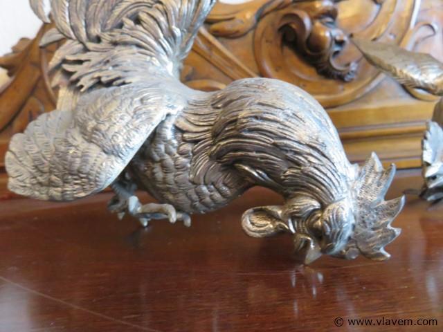 Metalen hanen, koppel, 28cm