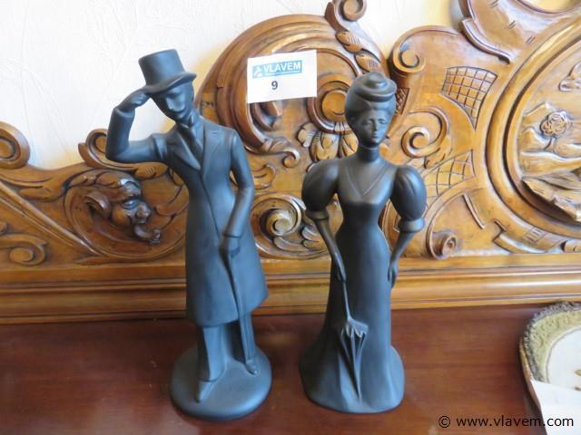 Beeld man en vrouw, 31cm
