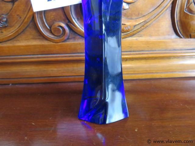 Beeld Maria uit blauw kristal 26cm
