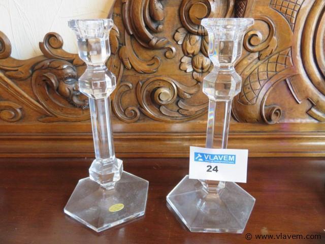 Kristalle kandelaars Val-Saint-Lambert 24cm