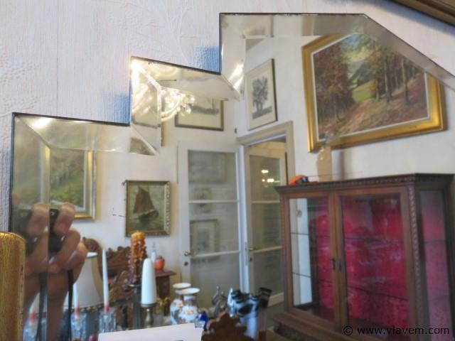 Art-deco spiegel 88cm breed