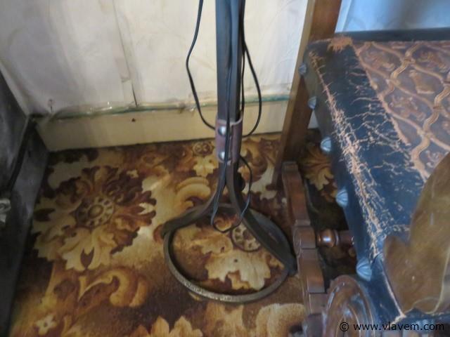 Smeedijzeren staanlamp 160cm