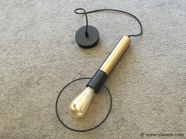 3 x Design hanglampen - RONA - Zwart & Brons