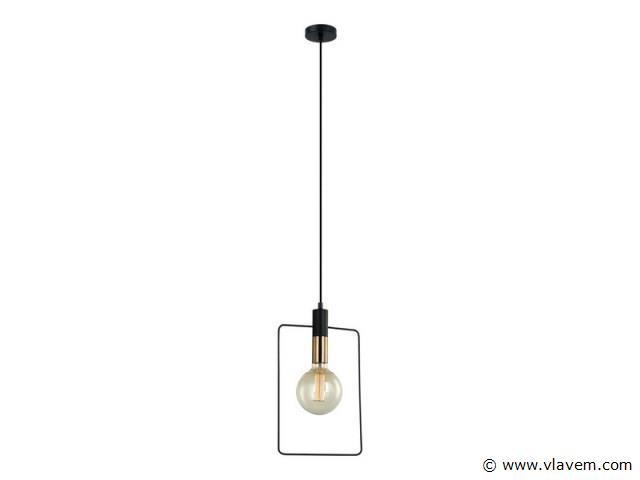 3 x Design hanglampen - QUADRAN - Zwart & Brons