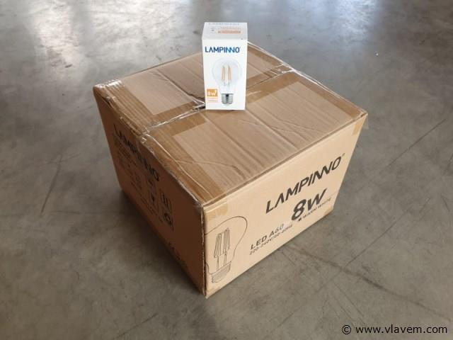 50 x E27 Filament LED lampen - 8 watt - Warm wit