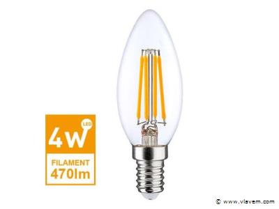 50 x E14 Filament LED lampen - 4 watt - Warm wit